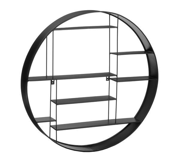 Oppsiktsvekkende Labyrint hylle rund Ø80 cm sort MM-24