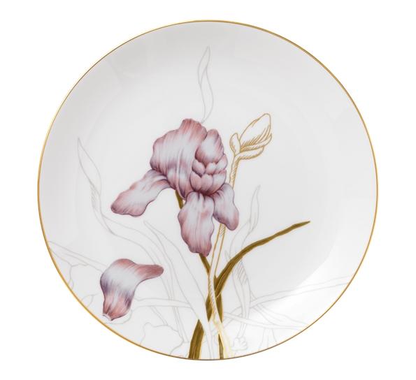 Flora asjett 22 cm iris