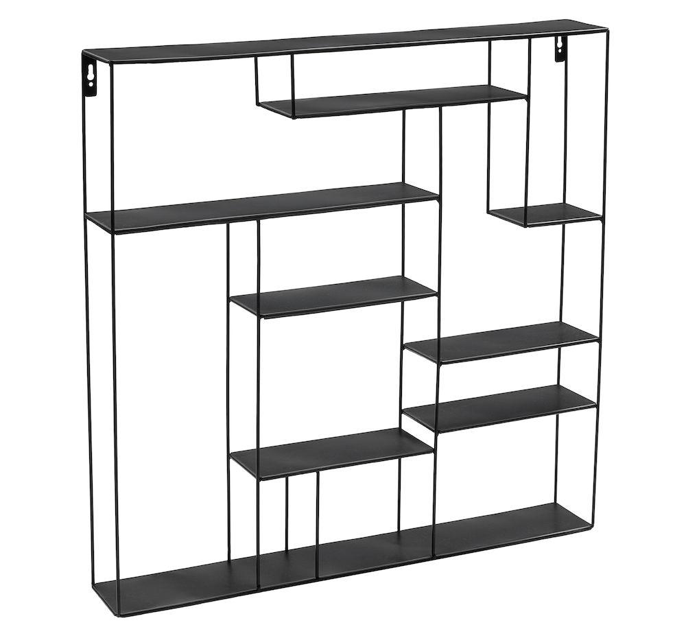 Labyrint hylle 80x80 cm sort Bruka Design