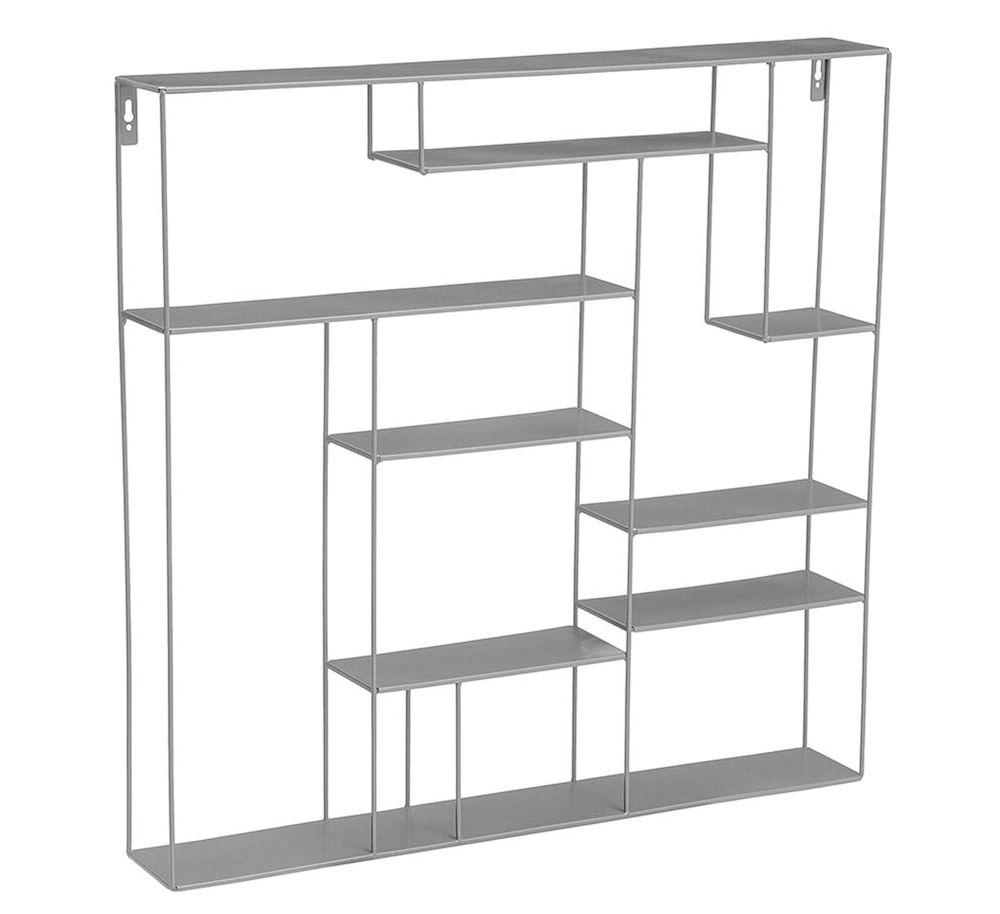 Labyrint hylle 80x80 cm grå Bruka Design