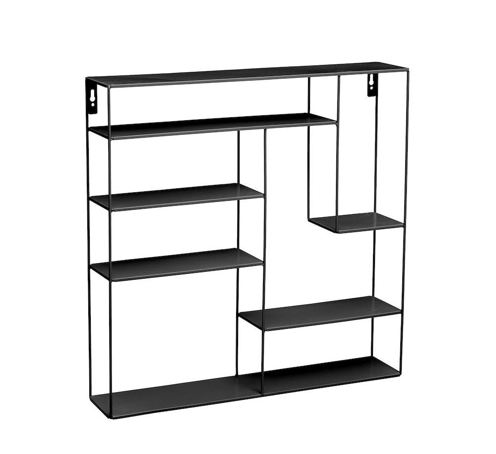 Labyrint hylle 60x60 cm sort Bruka Design