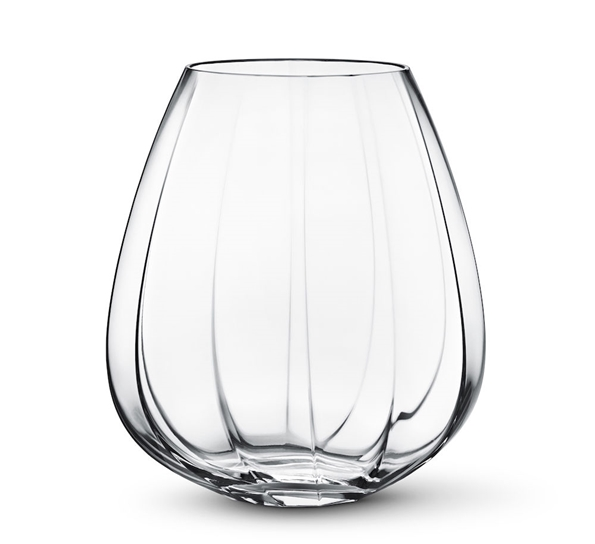 Facet glassvase stor