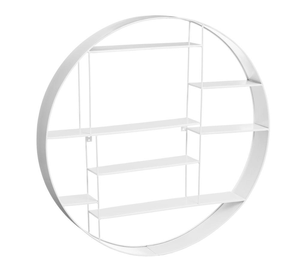 Labyrint hylle rundØ80 cm hvit Bruka Design