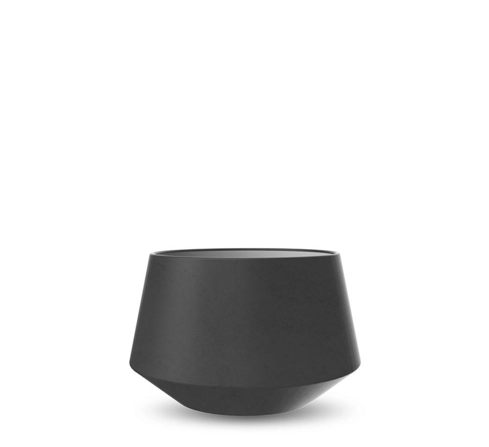 Convex potteskjuler 9,5 cm sort Cooee Design