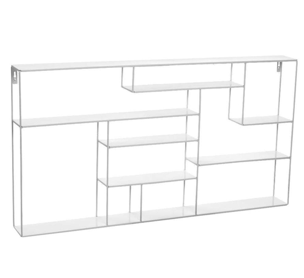 Labyrint hylle bred 60x118 cm hvit Bruka Design