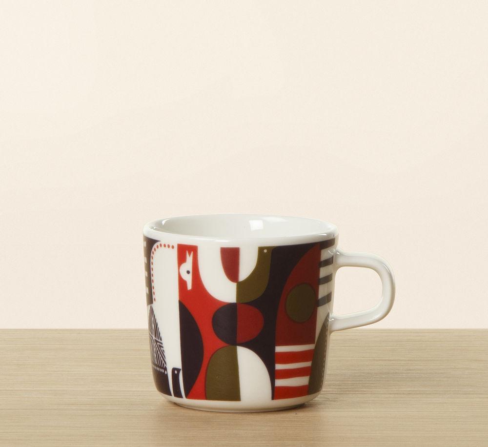Talvitarina kaffekopp 2 dl rød/lilla Marimekko
