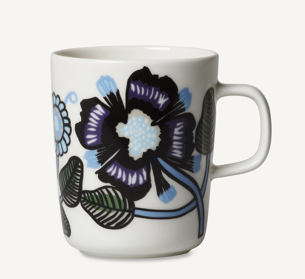 Tiara krus 2,5 dl blå Marimekko