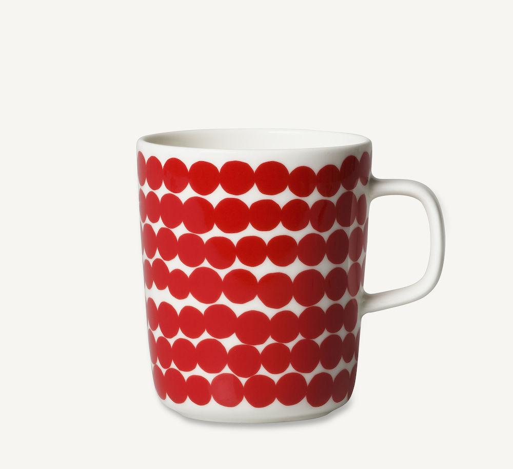Räsymatto krus 2,5 dl rød Marimekko