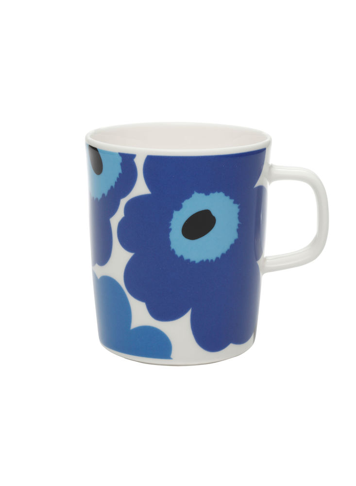 Unikko krus 2,5 dl hvit/blå Marimekko