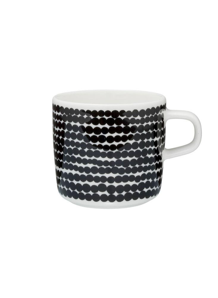 Siirtolapuutarha kaffekopp 2 dl sorte prikker Marimekko