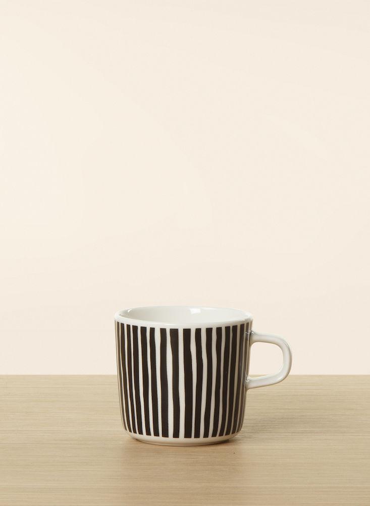 Varvunraita kaffekopp 2 dl sorte striper Marimekko
