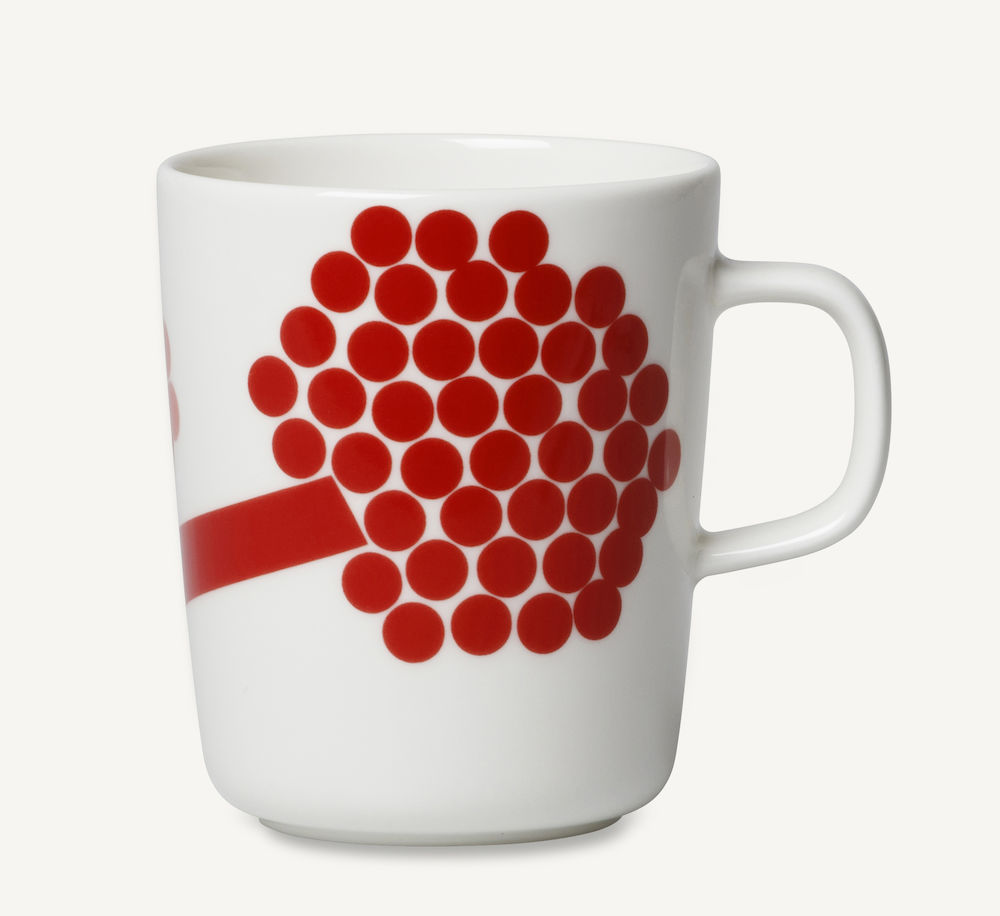 Hortensie krus 2,5 dl rød Marimekko